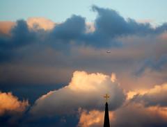 AIR TRAFFIC CONTROL TOWER (Irene2727) Tags: sunset clouds airplane searchthebest steeple soe stmarys hypothetical annapolismaryland bej platinumphoto nikond40 impressedbeauty dragondaggerphoto crazygeniuses newgoldenseal tmbaexcellence