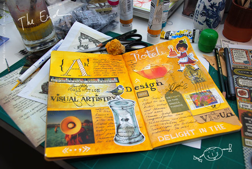 Typography in art book