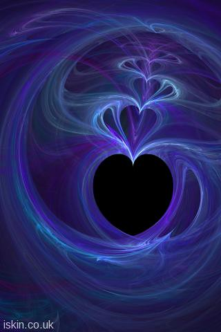 iphone wallpaper 320x480, a fractal pattern with love heart shapes and