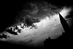 stormy weather (-dubliner-) Tags: bw cloud storm church florence spire chiesa firenze santamarianovella dubliner abigfave