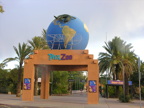 Entrance to the zoo and all the fascinating creatures to visit