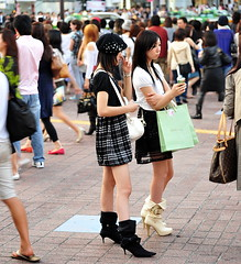 Shibuya Crossing /  () Tags: street camera city vacation people holiday black girl leather fashion island tokyo calle nikon pumps highheels phone telephone shibuya cell style corso mobilephone heels  nippon   crosswalk 70300mm mujeres isle fille rtw japon crowds sms nihon edo kanto vacanze schooluniform shibuyacrossing roundtheworld blackleather texting pedestriancrossing globetrotter japn honshu shoefetish blackboots   shibuyaward  worldtraveler shibuyaku globalpositioningsystem 22days landoftherisingsun  nihonkoku nipponkoku tkyto hachikocrossing   d700 tokyometropolis nikond700   tkei