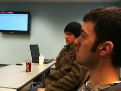 Bukacek and Kropp focusing at a GameZombie meeting (spencer.striker) Tags: uwwhitewater uww gamezombie gamezombietv erickropp jonbukacek