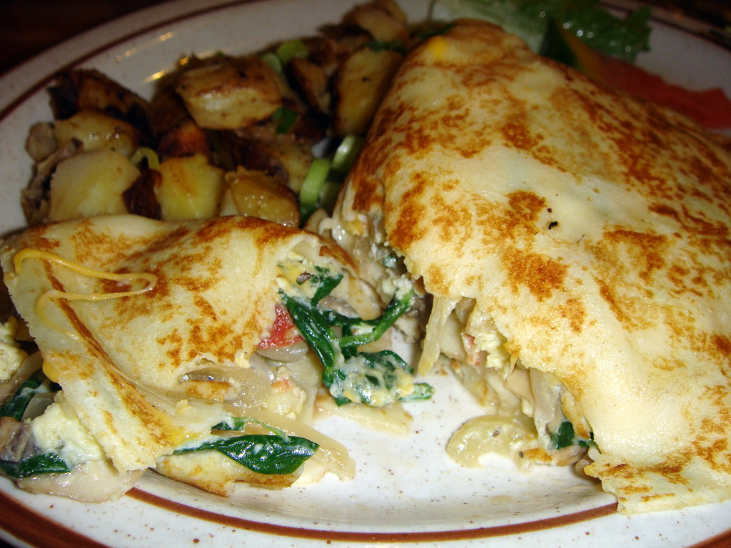 Interior of Vegetarian Crepe