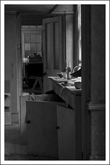 The Scullery (cazpoo) Tags: blackandwhite abandoned kitchen decay scullery