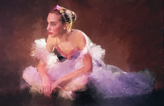 Bailarina (zubillaga61) Tags: ballet painterly girl photoshop ballerina bailarina corelpainter retoque