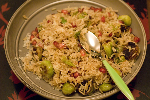 Sprout & Pomegranate Pilaff