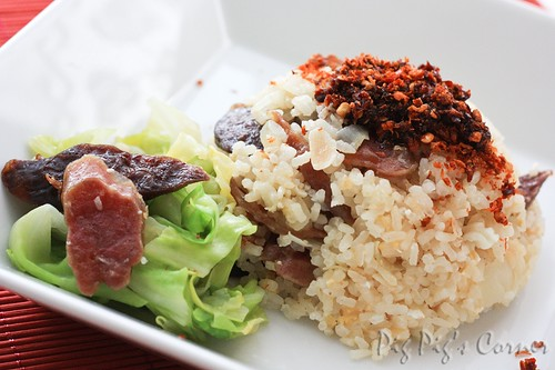 lap cheong rice