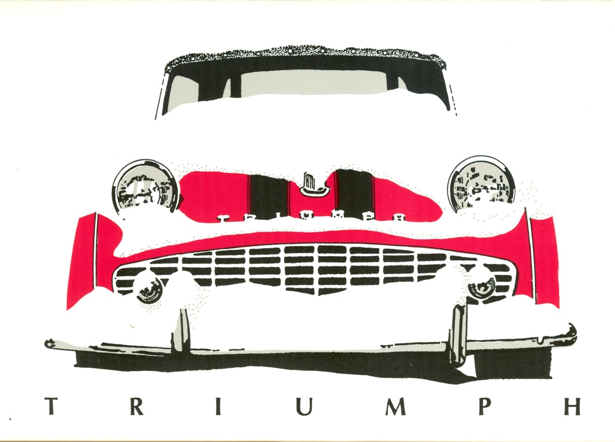 Triumph TR3-A Christmas Card