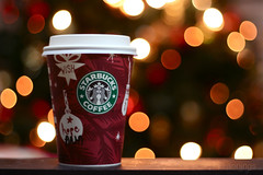 Red Cup Goodness (annings) Tags: christmas coffee lights bokeh christmastree christmaslights starbucks drinks redcups starbuckscoffee