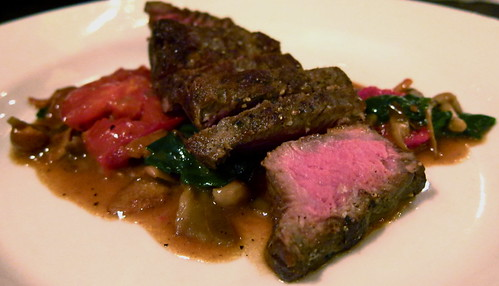 Steak with wild mushroom bordelaise