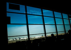 Waiting (Rayan M.) Tags: life blue windows sky silhouette waiting terminal passengers planes saudi arabia jeddah airports kaia theview kindom aircrafts ksa pople       saudiairlines   rayanmphotography kingabdulazizinternationalairport