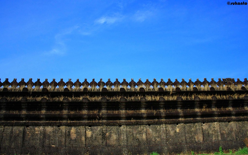 wall at 1000 pillar Jain Temple, Mangalore