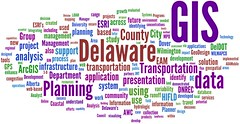 Word cloud of Delaware GIS 2010 presentation abstracts