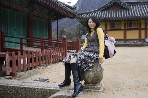 韓國 雪嶽山 楓紅 大佛