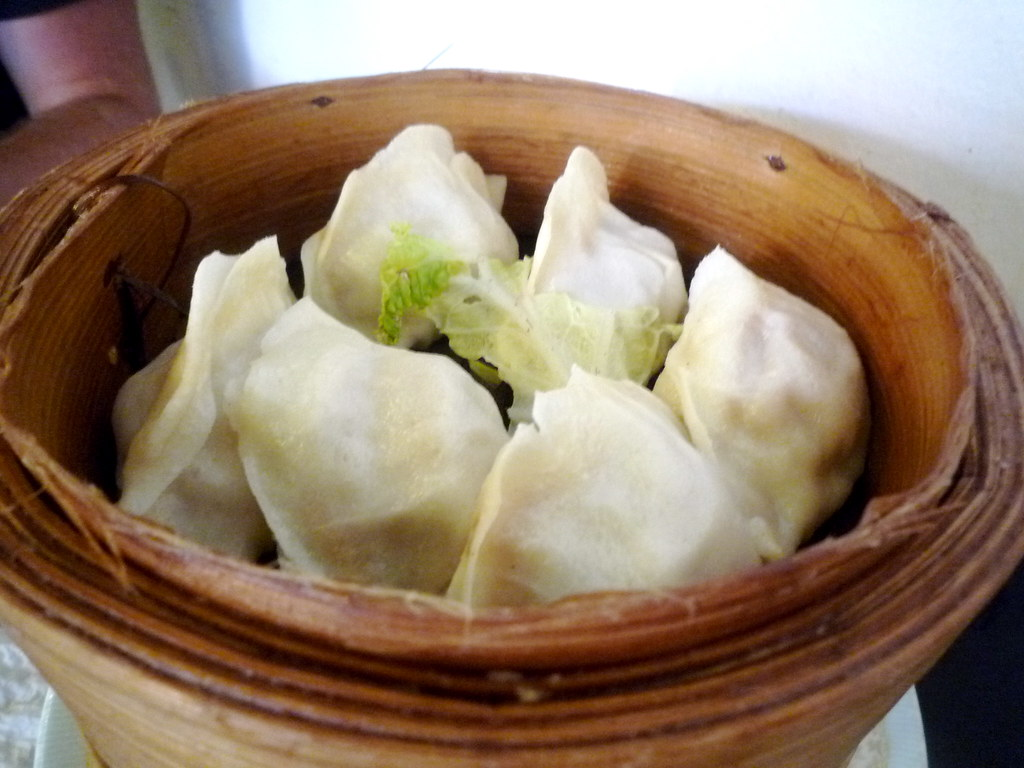 Steamed pork and Chinese cabbage dumplings