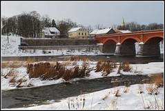 Kuldīga (Bargais) Tags: bridge houses winter white snow church river bricks latvia venta watter latvija kuldiga upe sniegs ziema tilts kuldīga balts mājas ēkas celtnes baznīca ūdens ķieģeļi