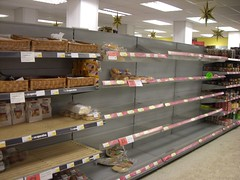 food supplies start to run out
