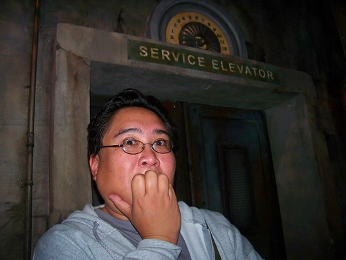 Me getting ready to go on the Tower of Terror