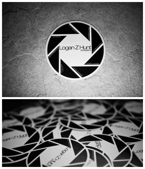 Business card sticker standout stickers