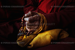 Japa Mala ( Poras Chaudhary) Tags: red india yellow necklace beads hand buddhist prayer monk seeds rosary devotional hinduism mala ladakh mantra japa rudraksha