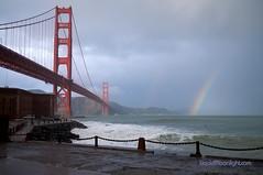 Rainbow Over the Golden Gate Bridge - San Francisco, California (Darvin Atkeson) Tags: ocean california bridge usa storm beach field america point golden us rainbow gate san francisco surf pacific suspension fort  crissy tides   darvin atkeson  darv   therebeastormabrewin liquidmoonlightcom