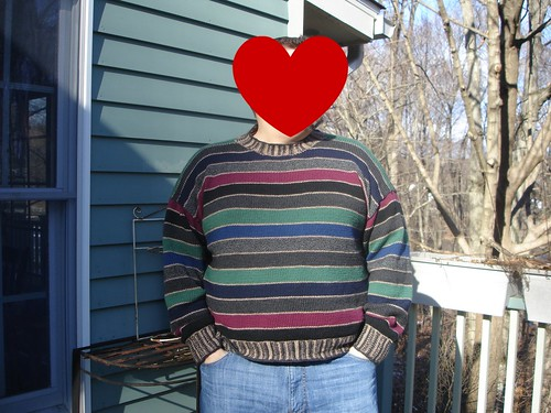 Hubby sweater done