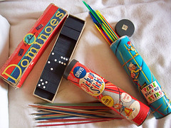 pick up sticks and dominoes (LolliePatchouli) Tags: wood vintage toy fifties plastic pickupsticks dominoes
