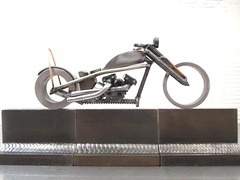 Welding sculpture ironhead motorcycle