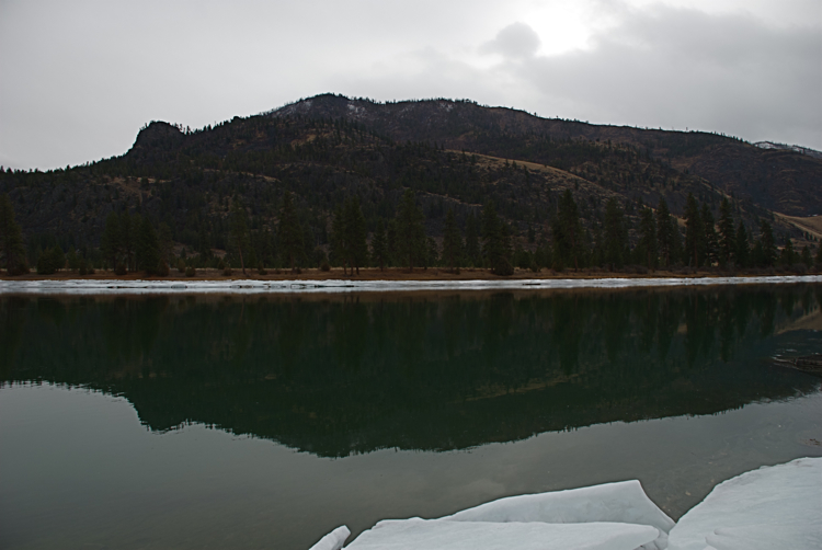 The Flathead River on a calm day