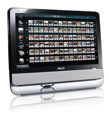 (單機) 未來,ASUS@Vibe數位內容平台,將預載在華碩全系列產品中。圖為華碩 All-in-one 電腦 EeeTop PC