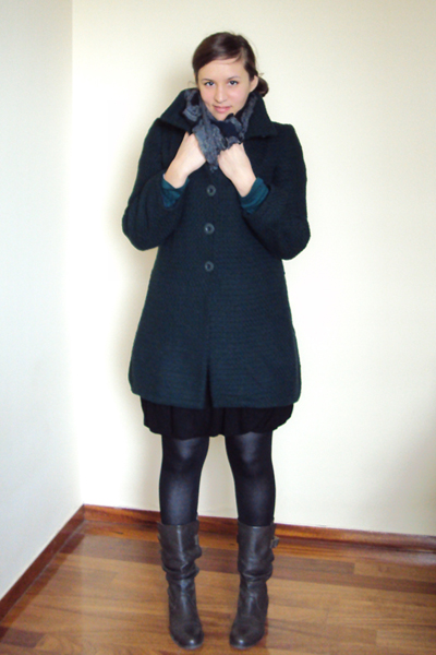 green attrattivo coat