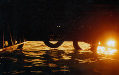 Pier (xbolotax) Tags: ocean trip red film analog 35mm pier mar lomo olympus bahia salvador danilo redscale