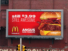 Awesome McDonald's Angus Burger (wheeltoyz) Tags: red food philadelphia sign cheese dinner advertising poster lunch golden bacon big amazing mac angus beef burger awesome sesame seed fast arches meat mcdonalds billboard advertisement delicious health hamburger third quarter pickles bun nutrition pounders
