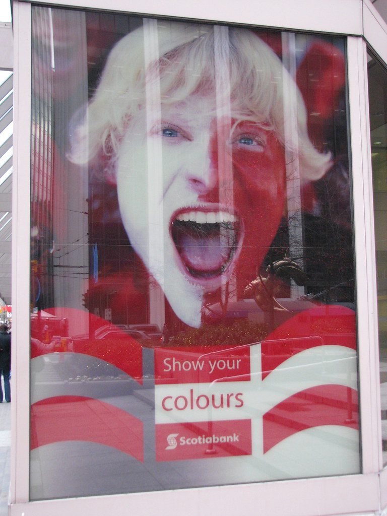 Scotia Bank Show Your Colours ad