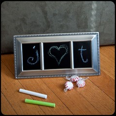 Recycled Frame Three Window Tiny Chalkboard