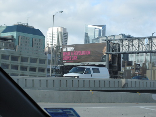 RETHINK WHAT A REVOLUTION LOOKS LIKE, billboard art
