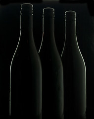 Three black bottles (david.kittos) Tags: black wine bottles blackonblack darkfield strobist lightscience