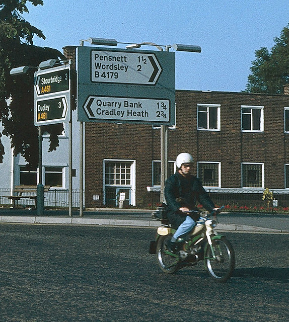 Moped Man, Brierley Hill, West Midlands, 1981