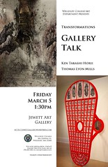 """Transformations"" gallery talk poster"