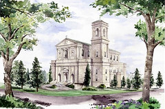 rendering of St. Gerard's as Mary the Queen in Norcross (via PlaceShakers)