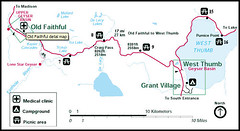 Old Faithful to West Thumb/Grant Village Route (SeattleRay) Tags: travel flowers autumn winter summer vacation mountains fall birds animals river drive spring buffalo scenery montana flickr photos maps oldfaithful sightseeing terraces lakes visit route waterfalls directions yellowstonenationalpark yellowstone wyoming elk bison wolves daytrips allseasons hotsprings ynp lodges geysers shoshonelake viewpoints isalake keplercascades mallardlake photolocations craigpass drivingroutes delacycreek scauplake seattleray spendadaytouring montanayellowstonecountry touringmaps outstandingflickrynppictures wolvesflowers gallerylinks touringyellowstonethroughpictures pictorialtours delacylakes