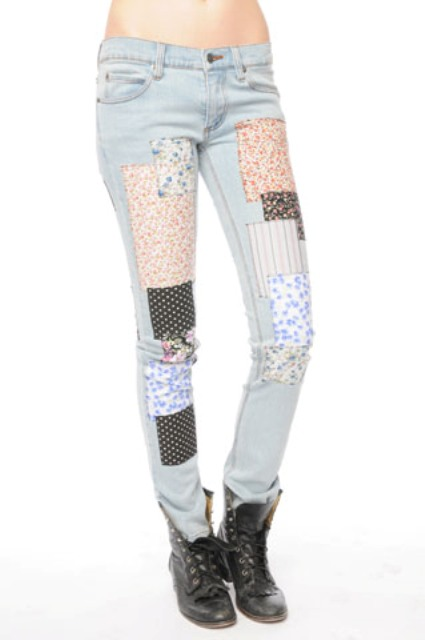 Cheap Monday Patchwork jeans 3