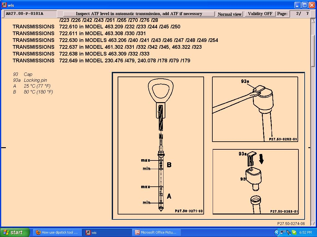 How use dipstick tool on 722.623 Trans ??? - Page 2 - Mercedes-Benz Forum