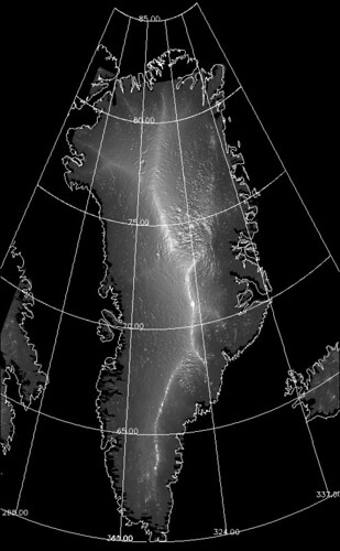 """Topography of Greenland"" by NASA Goddard Photo & Video"