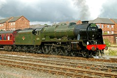 scots guardsman (midcheshireman) Tags: train cheshire steam chester locomotive scotsguardsman rebuiltscot