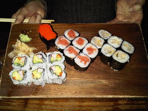 Rolls: California, tuna, and mackerel