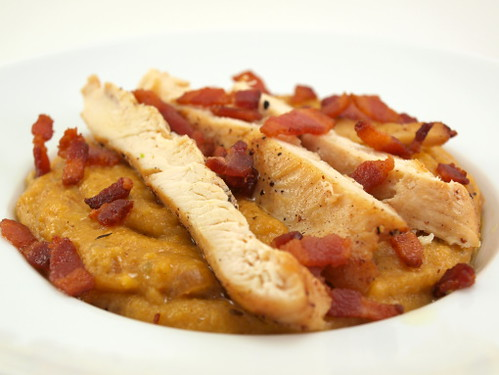 Pan Seared Chicken with Creamy Polenta