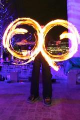 London & London Eye (Steve Carter 07798677116) Tags: nightphotography light london night fire colours flames londoneye milleniumwheel flame handheld fireeater luminosity stevecarter cstevecarter