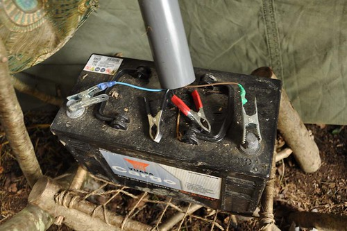 The old bus battery, charging